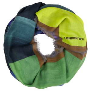 London W11 Cashmere scarf multi color green 0