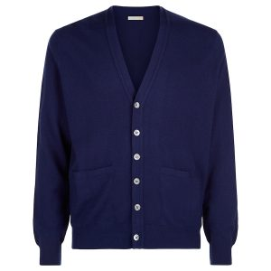London W11 Men cashmere cardigan in blue 0