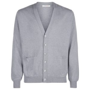 London W11 Men cashmere cardigan in grey 0