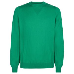 London W11 Men cashmere crew neck jumper in green 0