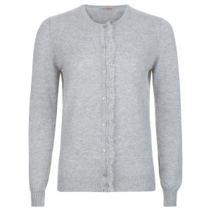 London W11 cashmere cardigan with fringes in grey 0