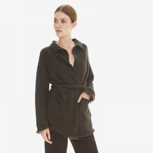 cashmere wrap cardigan with fringes in charcoal grey londonw11 copy