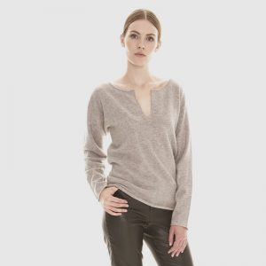 felted cashmere sweater in jute londonw11