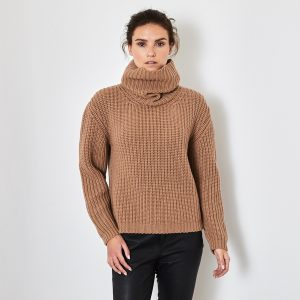 Chunky Rib Cashmere sweater caramel 1