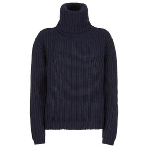 Chunky Rib with Polo neck color Navy copy