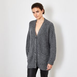 Long cashmere cardigan 1