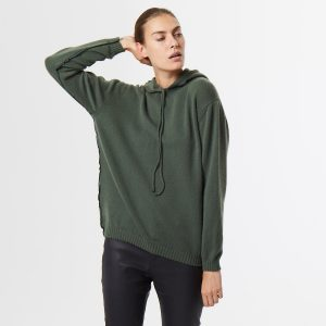 Cashmere hoody green 1