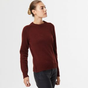Chunky Cashmere crew neck brown 1