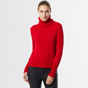 Chunky cashmere polo neck 1