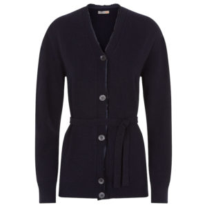 Belted cardigan navy 0