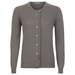 London W11 Cashmere Crew Neck Cardigan in Oyster grey with fringes 0