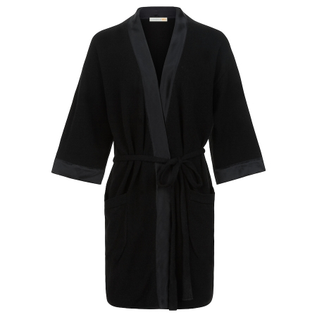 Soft 100% Italian Cashmere Robe with silk detail