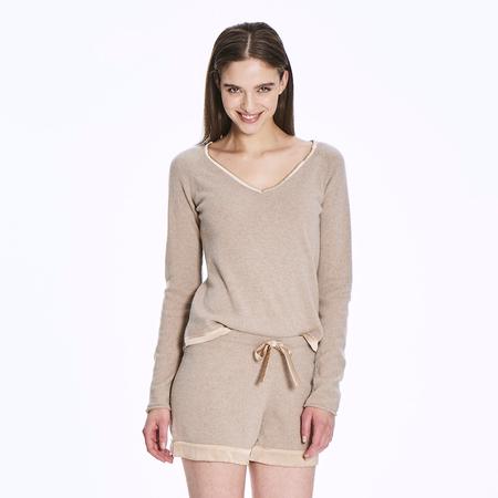 The Cashmere Pyjama Shorts in Sesame