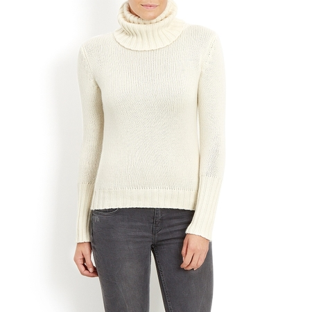 Chunky 12 ply Italian Cashmere Polo Neck sweater