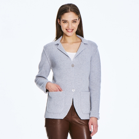 London Cardigan made of 6 ply 100% Italian cashmere