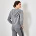 Cashmere hoody cardigan grey 3