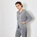Cashmere hoody cardigan grey 2