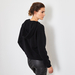 Lace Up Cashmere sweater black 1