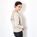 Lace Up cashmere sweater beige 3