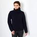 Chunky Rib cashmere sweater wih polo neck 2