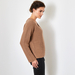 Chunky V-neck cashmere sweater in caramel 3