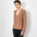 Chunky V-neck Cashmere Sweater 1