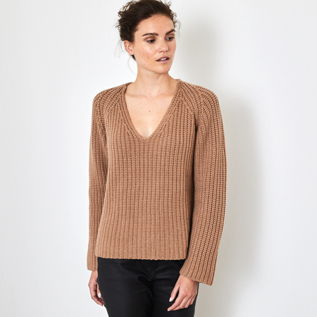 Ribbed 12 ply 100% Italian cashmere sweater