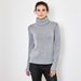 Chunky polo neck cashmere sweater 1