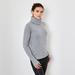 Chunky cashmere polo neck gray 3