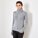 Chunky cashmere sweater with polo neck 2