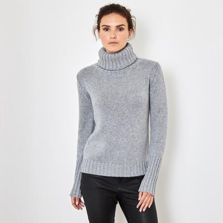 Chunky 12 ply 100% Italian cashmere sweater Ascot Grey