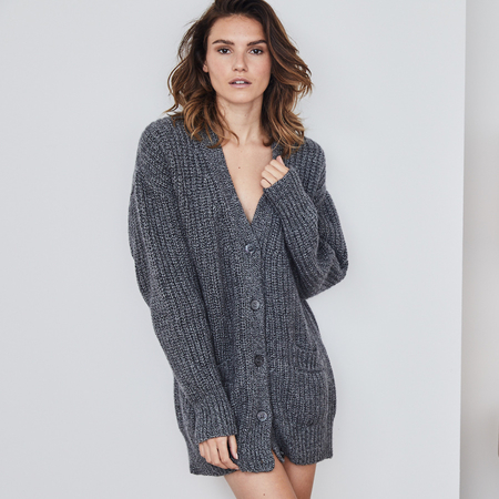 Chunky  100% sustainable Italian cashmere cardigan