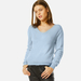 Cashmere V-neck jumper in sky blue