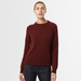 Chunky cashmere crew neck brown 2