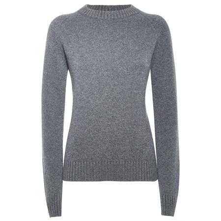 Scottish cashmere sweater in sparkle grey