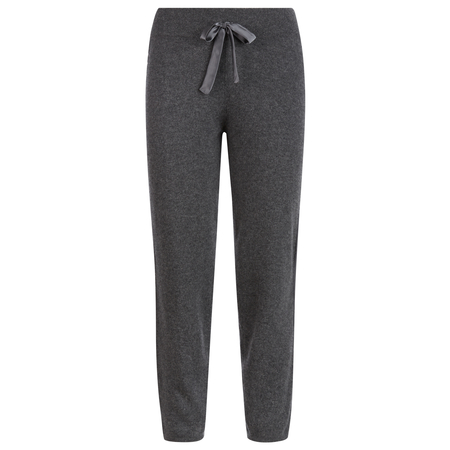 100% sustainable Scottish Cashmere Track Pants with silk detail