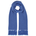 Chunky 12 ply Cashmere Scarf in Parisian Blue