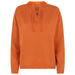 Lace-up recycled cashmere sweater in burnt orange