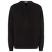 Lace-up recycled cashmere sweater in black