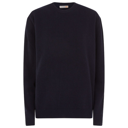 Circular Cashmere Crew Neck sweater in navy