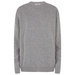 Men crew neck sweater from re-engineered  cashmere