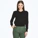 Fine 2 ply 100% Italian Cashmere crew neck sweater with raw edge silk detail