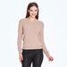 Soft 2 ply 100% Italian Cashmere crew neck sweater with raw edge silk detail