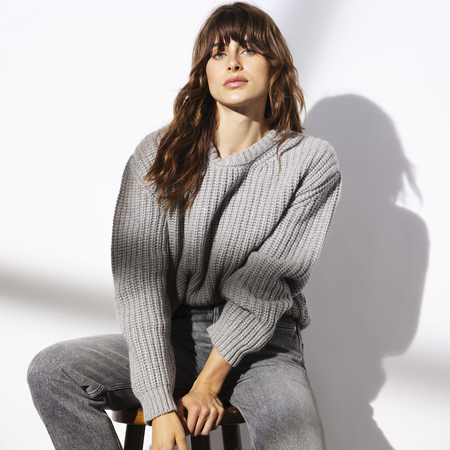 Chunky 100% Italian Cashmere Crew Neck Sweater