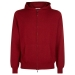 Men's Red Hooded Scottish Cashmere Cardigan