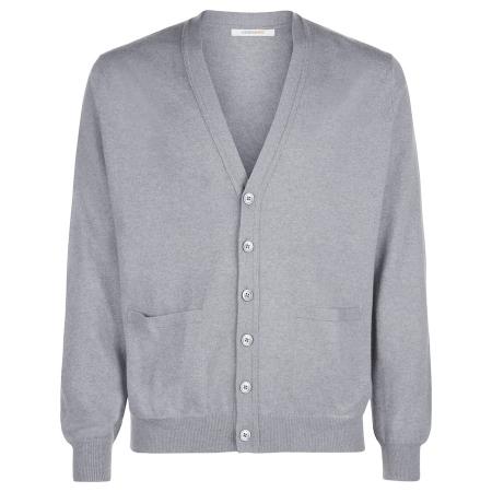 Men's Grey Scottish Cashmere Cardigan