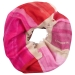 London W11 Cashmere scarf multicolor pink red 0