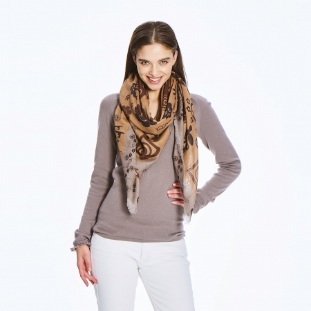 Leigh Tiger Eyes Cashmere Scarf