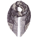 London W11 cashmere scarf Leigh print shades of grey