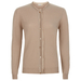 London W11 Cashmere cardigan in beige with cut edges 0